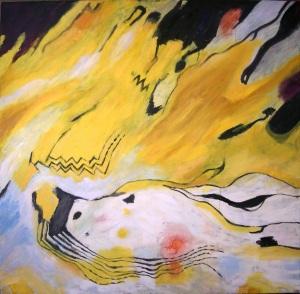 """""""Workin' Bird"""" Oil on Canvas 4ftx4ft"""
